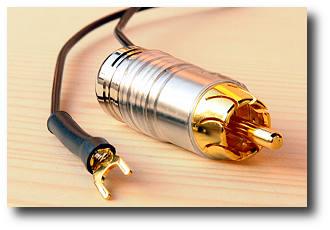Erdungskabel mit Cinchstecker und Kabelschuh