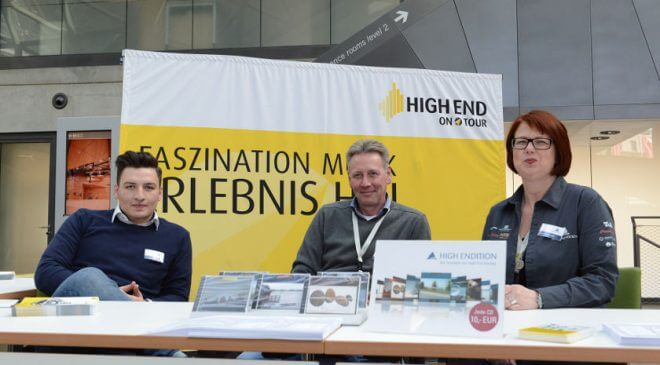 Infostand HIGH END ON TOUR