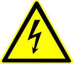 Achtung Stromschlaggefahr