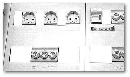 Steckdosen im Sicherungskasten
