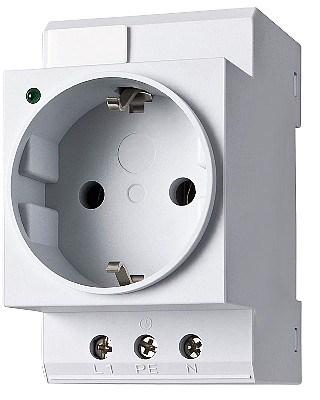 Einbausteckdosen im Sicherungskasten