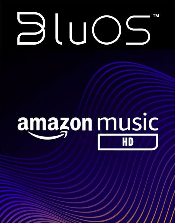 BluOS und amazon music - Logo