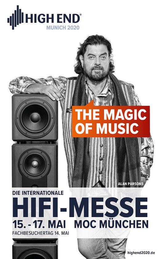 Werbeplakat HIGH END 2020 München
