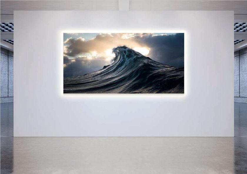 WOW SoundArt™ Wellenmotiv mit Hintergrundbeleuchtung