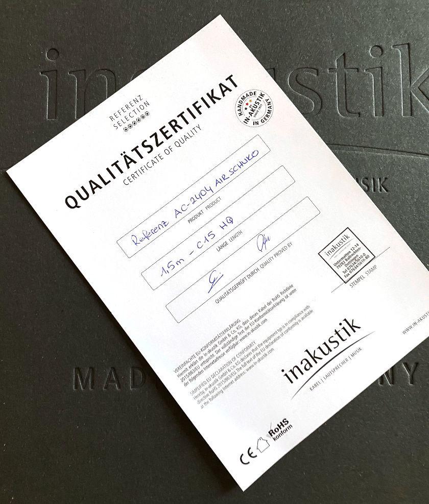 Netzkabel In-Akustik Referenz-2404 Air - HiFi Test