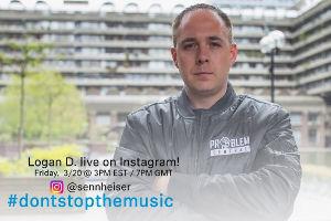 Logan D. Sreaming Konzert auf Instagram