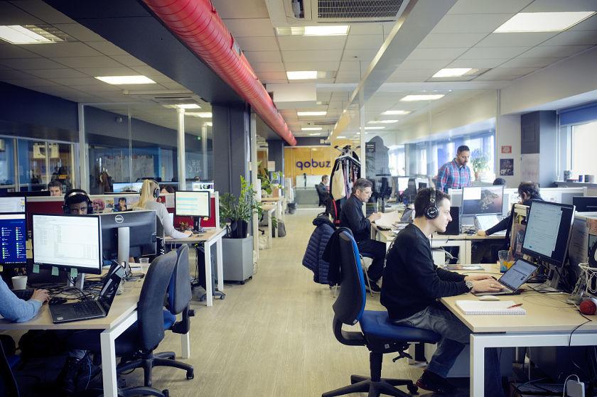Qobuz-Team in der Pariser Unternehmenszentrale