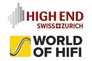 Logo HIGH END SWISS und WORLD OF HIFI