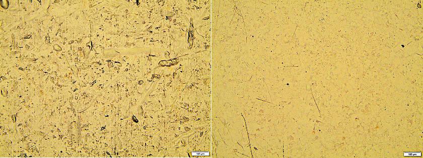 Konventionlele galvanische Verarbeitung (links) vs.  PlasmaProtect™ (rechts)
