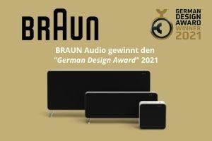 BRAUN Audio gewinnt den German Desing Award 2021