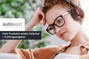 audioNEXT hat Viele Produkte wieder lieferbar und zudem ein Frühlingsangebot in den Startlöchern