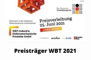 Die WBT-Industrie-GmbH gewinnt den Deutschen Innovationspreis 2021