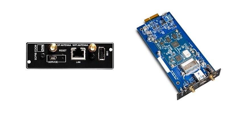 Der NAD Vollverstärker wird über das Modul MDC2 BluOS-D verfügen