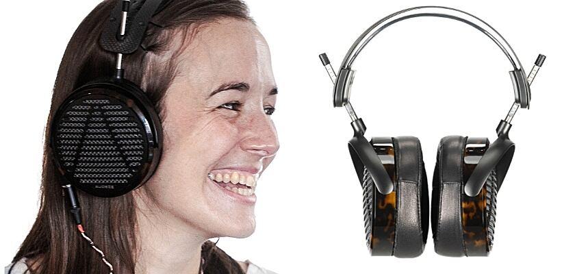 Der neue Audeze LCD-5 Kopfhörer am Kopf einer Frau