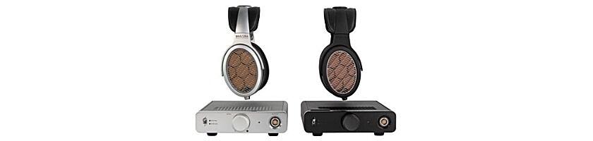 Der silberne und der schwarze Warwick Acoustics Bravura Kopfhörer
