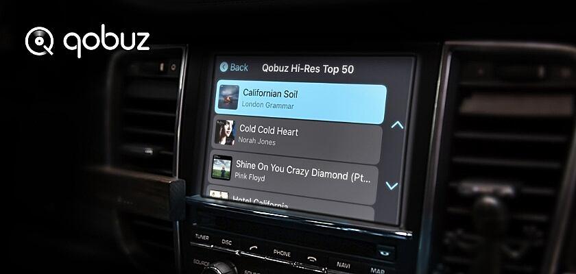 """Die neue """"Carplay Online""""-Funktion von Qobuz"""