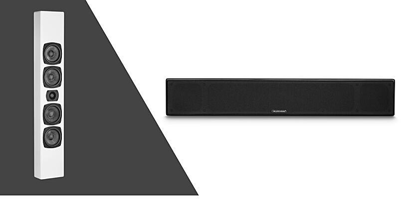 M&K Sound M90 Lautsprecher in Schwarz und Weiß