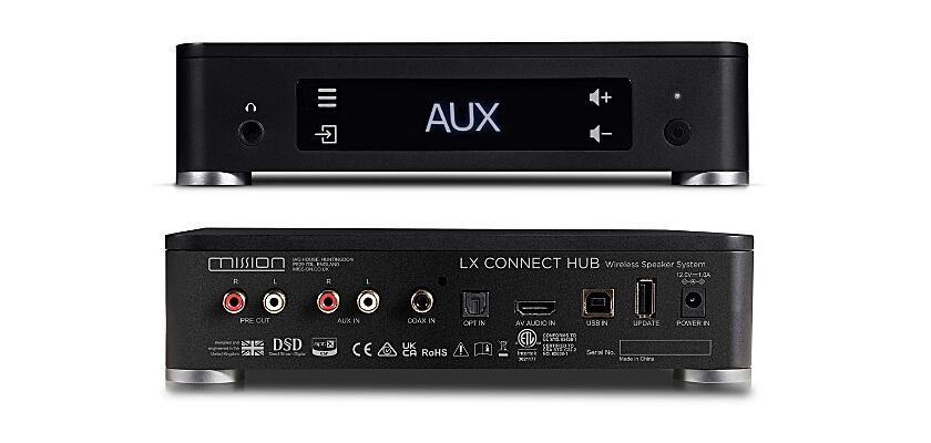Mission LX CONNECT Hub Vorder- und Rückseite